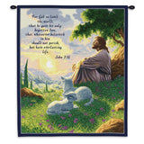 John 3:16 Wall Tapestry With Rod