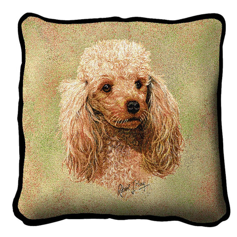 Poodle Cream Pillow
