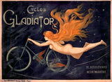 French Gladiator Bicycles Wood Sign 14x20 (36cm x 51cm) Planked