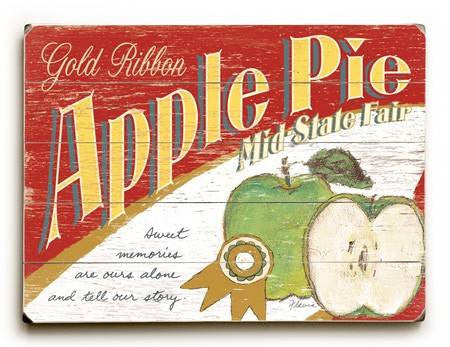 0003-1581-Apple Pie Wood Sign 9x12 (23cm x 31cm) Solid