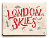 London Skies Wood Sign 12x16 Planked