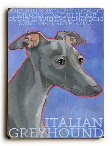 Italian Greyhound Wood Sign 30x40 (77cm x102cm) Planked