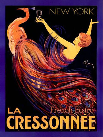 La Cressonnee French Bistro Wood Sign 14x20 (36cm x 51cm) Planked