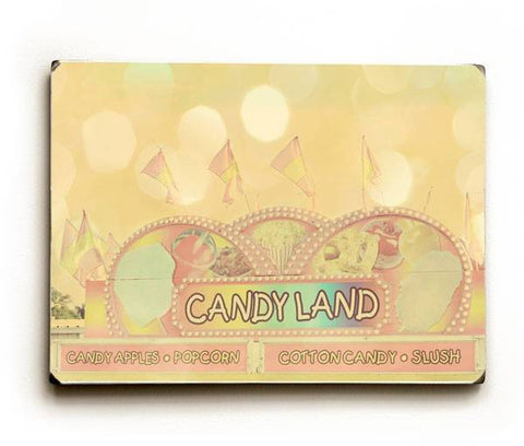 Candy Land Wood Sign 9x12 (23cm x 31cm) Solid