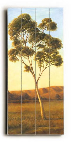 Lonely Eucalyptus I Wood Sign 10x24 (26cm x61cm) Planked