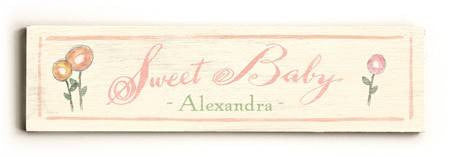 0002-9021-Sweet Baby Wood Sign 6x22 (16cm x56cm) Solid