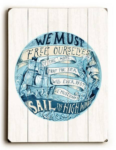 Free Ourselves Wood Sign 9x12 (23cm x 31cm) Solid