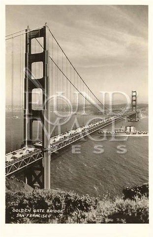 Golden Gate Bridge, San Francisco, California Wood Sign 7.5x12 (20cm x31cm) Solid