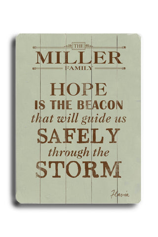 Safely through the Storm Wood Sign 14x20 (36cm x 51cm) Planked