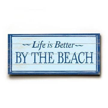 Better by the beach Wood Sign 10x24 (26cm x61cm) Planked