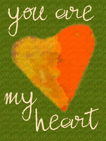 You are my Heart #1 Wood Sign 14x20 (36cm x 51cm) Planked
