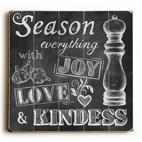 Season Everything Wood Sign 13x13 Planked