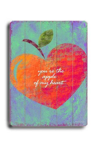 You're the Apple Wood Sign 18x24 (46cm x 61cm) Planked