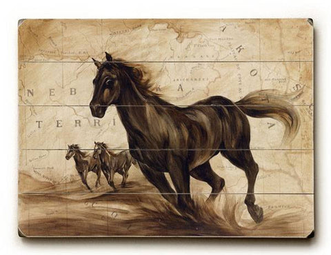 Black Beauty Wood Sign 9x12 (23cm x 31cm) Solid