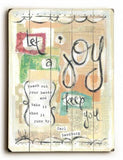 Let Joy Keep You Wood Sign 9x12 (23cm x 31cm) Solid