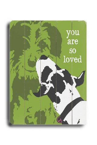 You are so Loved Wood Sign 12x16 Planked