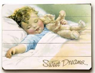 Sweet Dreams Wood Sign 14x20 (36cm x 51cm) Planked