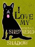 German Shepard Wood Sign 18x24 (46cm x 61cm) Planked