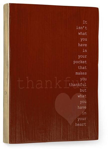 Thankful Wood Sign 9x12 (23cm x 31cm) Solid