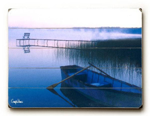 Row Boat Wood Sign 18x24 (46cm x 61cm) Planked