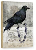 Black Crow Wood Sign 14x20 (36cm x 51cm) Planked