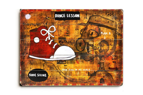 Dance Lesson Wood Sign 18x24 (46cm x 61cm) Planked