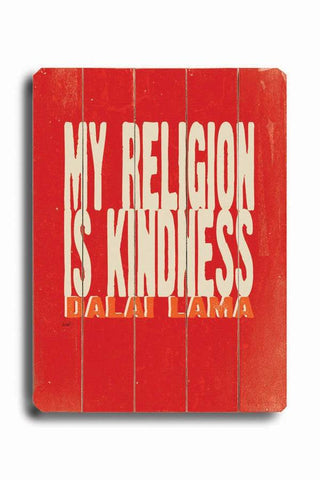 My Religion Wood Sign 12x16 Planked