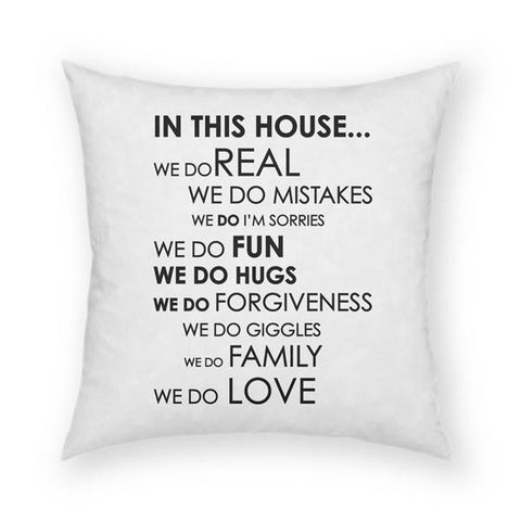 In This House Pillow 18x18