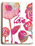 Feel The Love Wood Sign 14x20 (36cm x 51cm) Planked