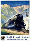 North Coast Limited Railroad Poster Wood Sign 18x24 (46cm x 61cm) Planked