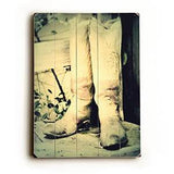 Cowboy Boots Wood Sign 25x34 (64cm x 87cm) Planked