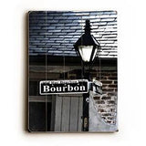 Bourbon Street Wood Sign 12x16 Planked