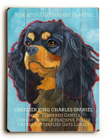Cavalier King Wood Sign 9x12 (23cm x 31cm) Solid