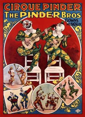 Cirque Pinder/The Pinder Bros. Wood Sign 18x24 (46cm x 61cm) Planked