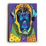 Colorful Hound Wood Sign 12x16 Planked