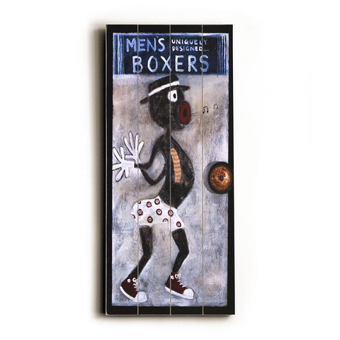 Men's Boxers Wood Sign 14x20 (36cm x 51cm) Planked