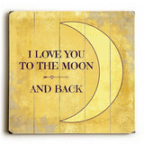 Love You to the Moon Wood Sign 13x13 Planked