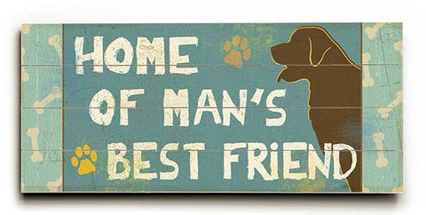Best Friends III Wood Sign 10x24 (26cm x61cm) Planked