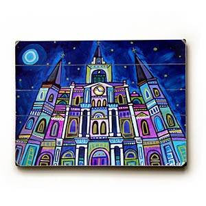 Starry Cathedral Wood Sign 12x16 Planked