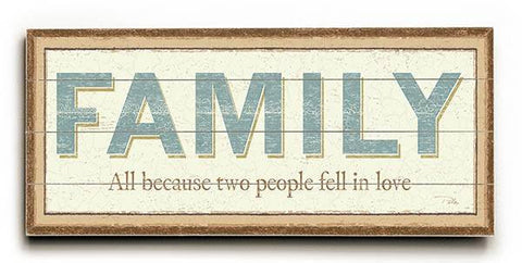 Family Wood Sign 10x24 (26cm x61cm) Planked