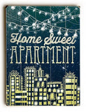Home Sweet Apartment Wood Sign 14x20 (36cm x 51cm) Planked