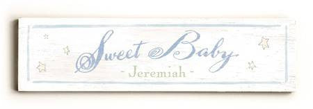 0002-9023-Sweet Baby Wood Sign 6x22 (16cm x56cm) Solid