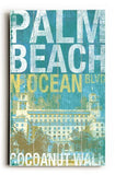cocoanut walk palm beach Wood Sign 14x20 (36cm x 51cm) Planked