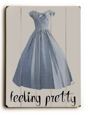 Feeling Pretty Wood Sign 14x20 (36cm x 51cm) Planked