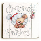 Christmas Wishes Wood Sign 13x13 Planked