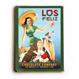 Los Feliz Wood Sign 14x20 (36cm x 51cm) Planked