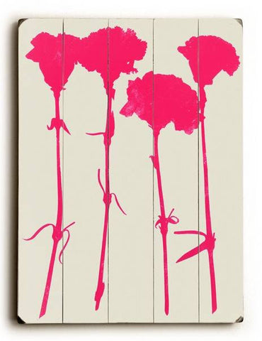 Carnations Wood Sign 9x12 (23cm x 31cm) Solid