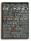 ABC's of Life Wood Sign 9x12 (23cm x 31cm) Solid