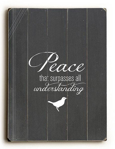 Peace that Surpasses all Understanding Wood Sign 30x40 (77cm x102cm) Planked