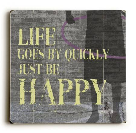 0003-2581-Happy Wood Sign 9x12 (23cm x 31cm) Solid